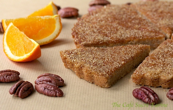 Orange Pecan Shortbread Cookies | The Café Sucre Farine