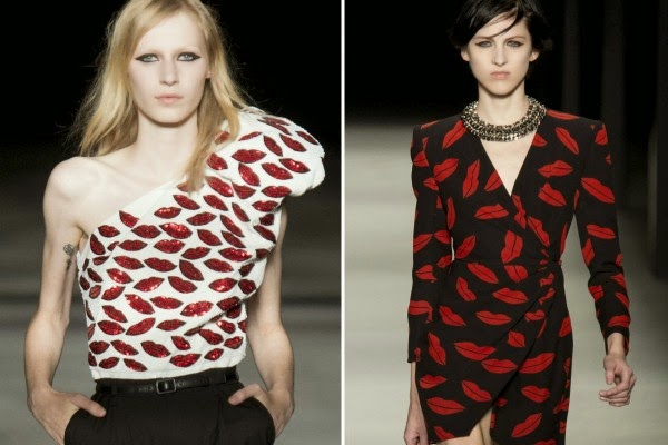 red lips print trend