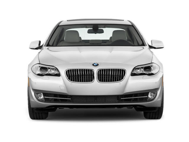 Front view of white 2011 BMW 528i