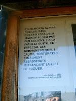 Homenatge als maquis del mas Rocaus