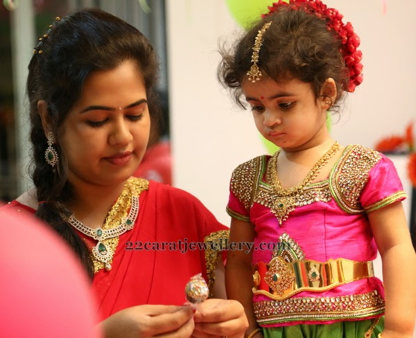 Baby In Uncut Set And Vaddanam Jewellery Designs