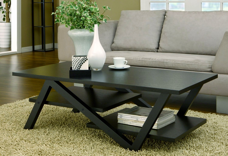 Furniture of America Finley Rectangular Coffee Table, Black