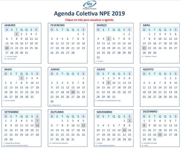 AGENDA NPE - 2019