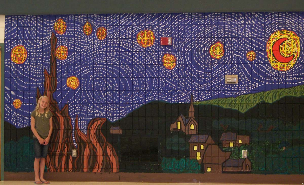 Starry Night Mural. U201c