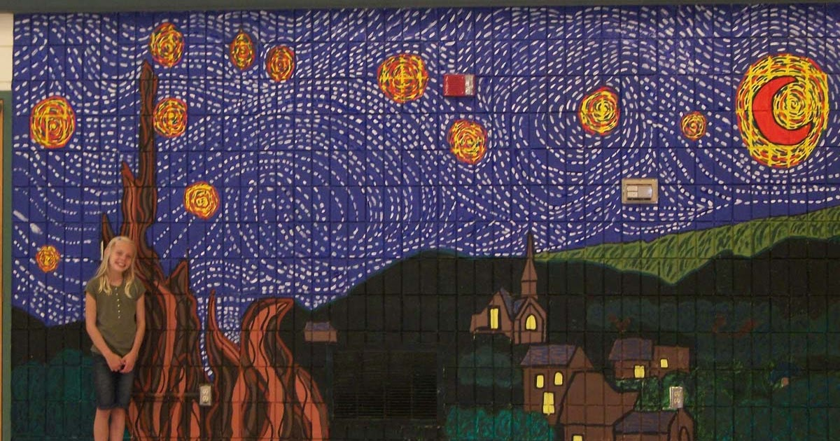 starry night mural art projects for kids starry night art classic art mural printed wall mural