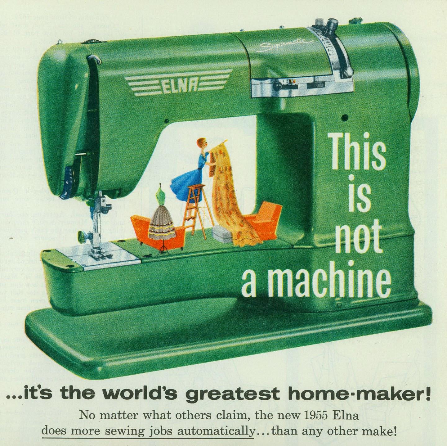 Machine à coudre vintage elna 1955 sauterelle