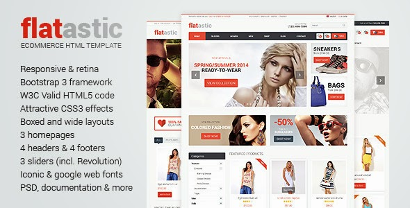 free HTML eCommerce template