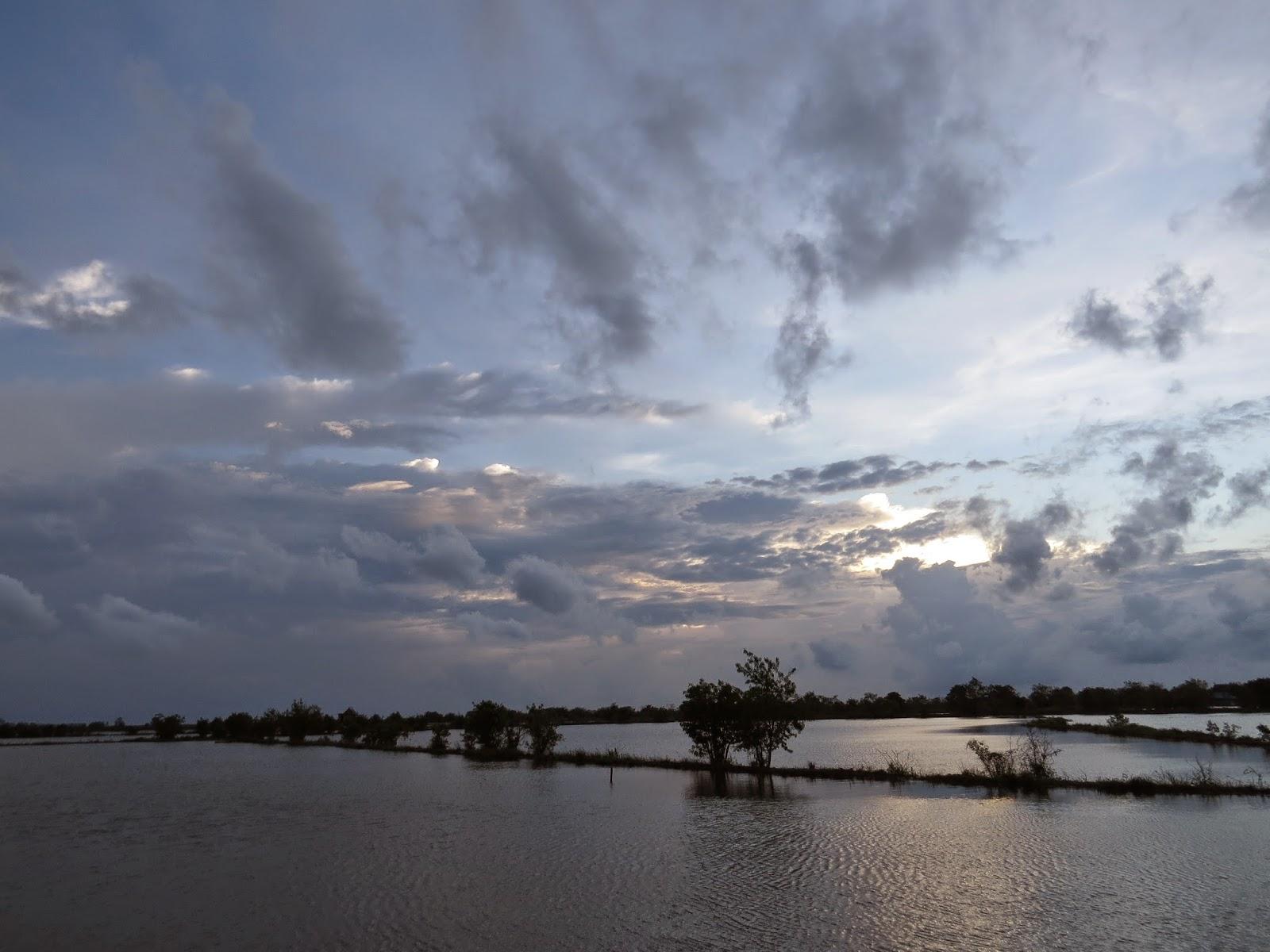 Medung diantara Pematang Tambak Yang Hampir Terendam Banjir