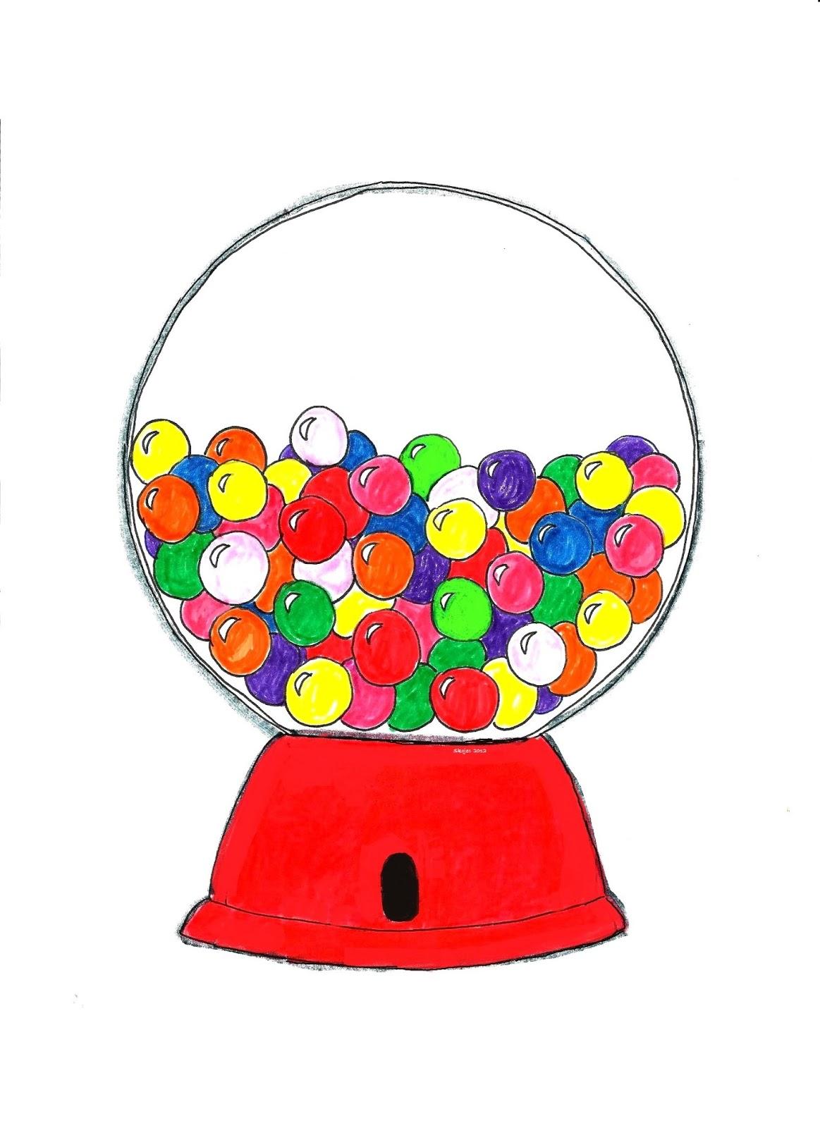 gumball machines art class ideas