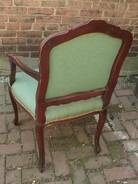 ShoponSherman Antique French Provincial Furniture Naugahyde Arm