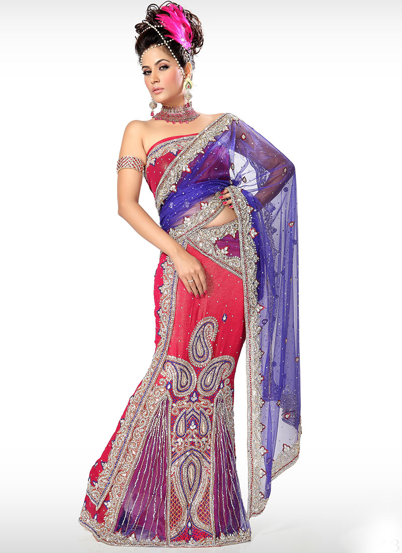 Embroidery designs latest fancy sarees