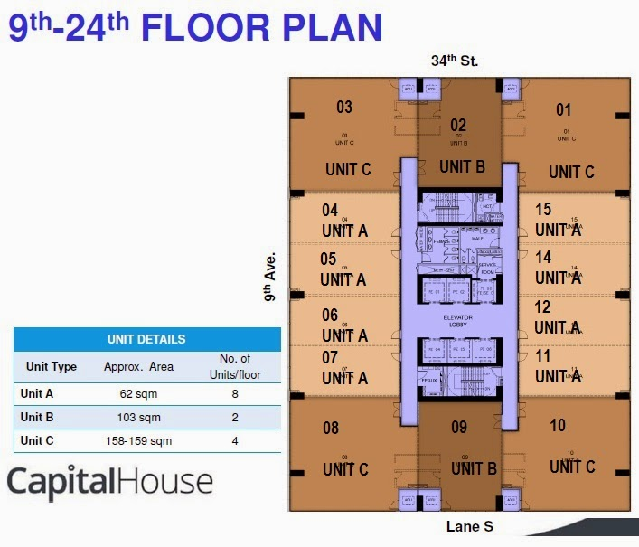 Capital house boutique office building in bonifacio for Typical office floor plan