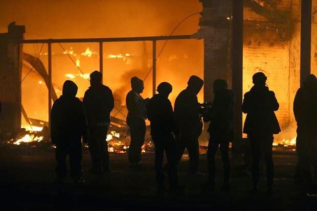 Edificio em chamas