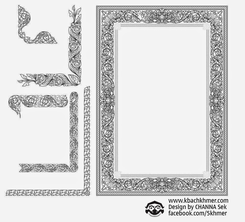 Fine Khmer: New Kbach Khmer Frame in *.AI Graphic Vector