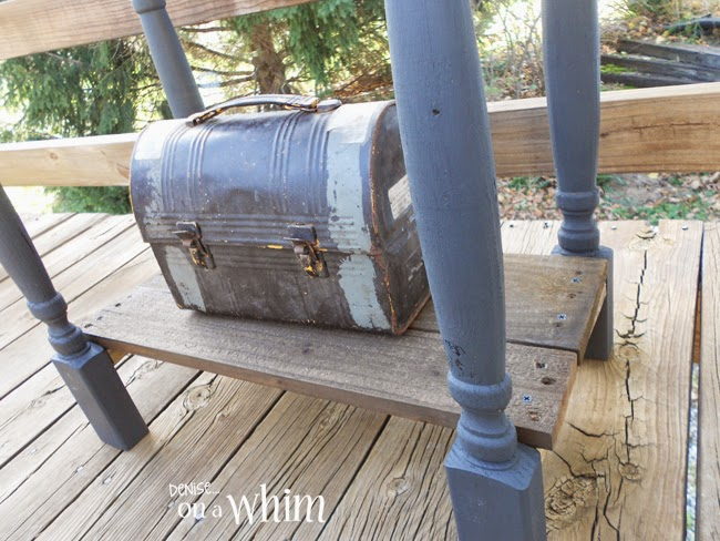 Side Table Built with an Ammo Box from Denise on a Whim