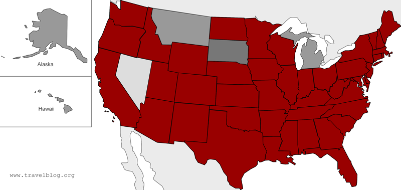 50 State Challenge Map