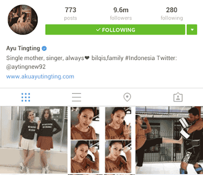 akun instagram indonesia terpopuler ayu ting ting di search engine google