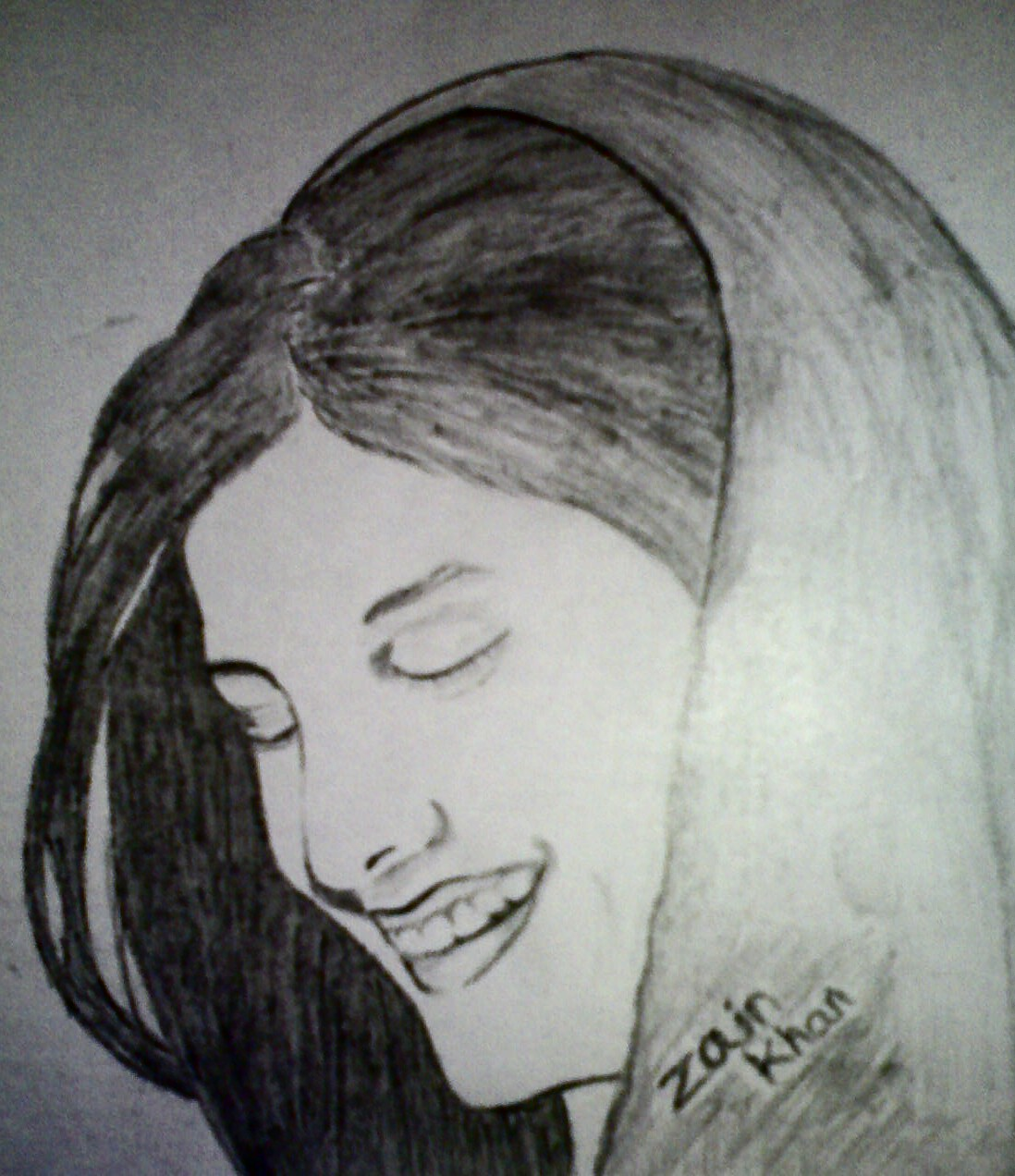 Pencil sketches painting india women sketch