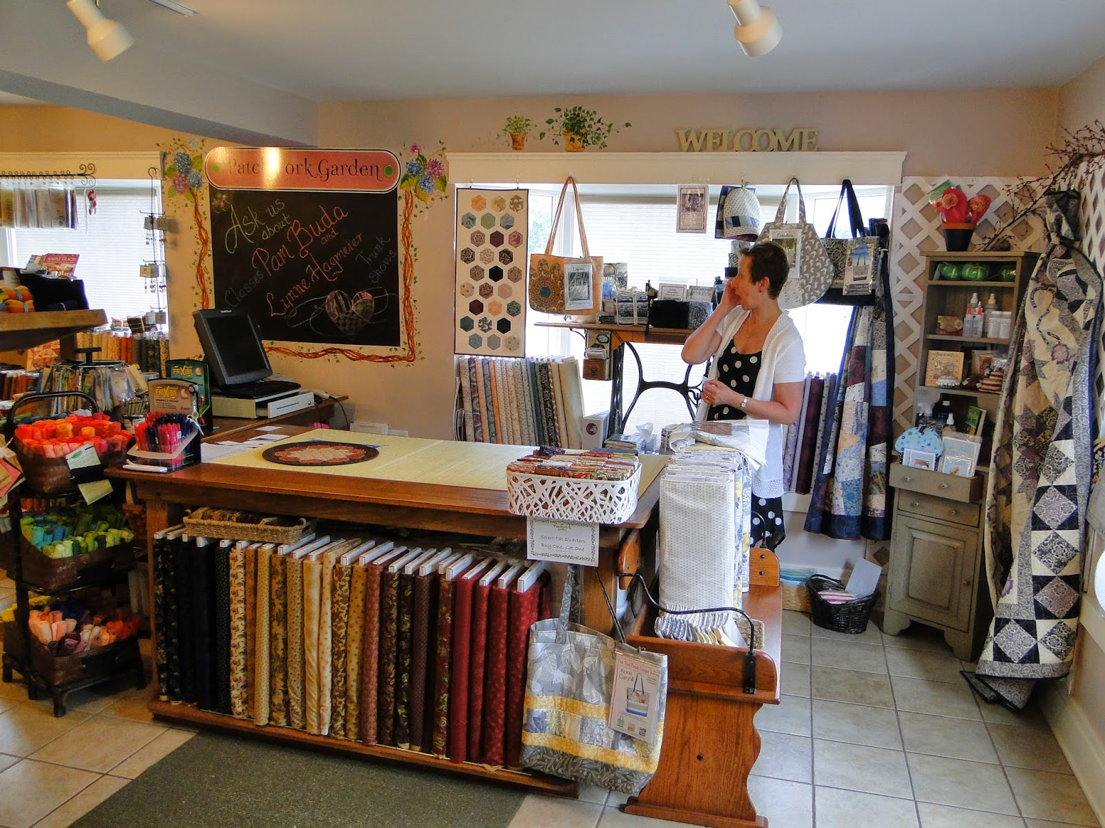 Heartspun Quilts ~ Pam Buda: Patchwork Garden Quilt Shop Visit : rogers quilt shop - Adamdwight.com