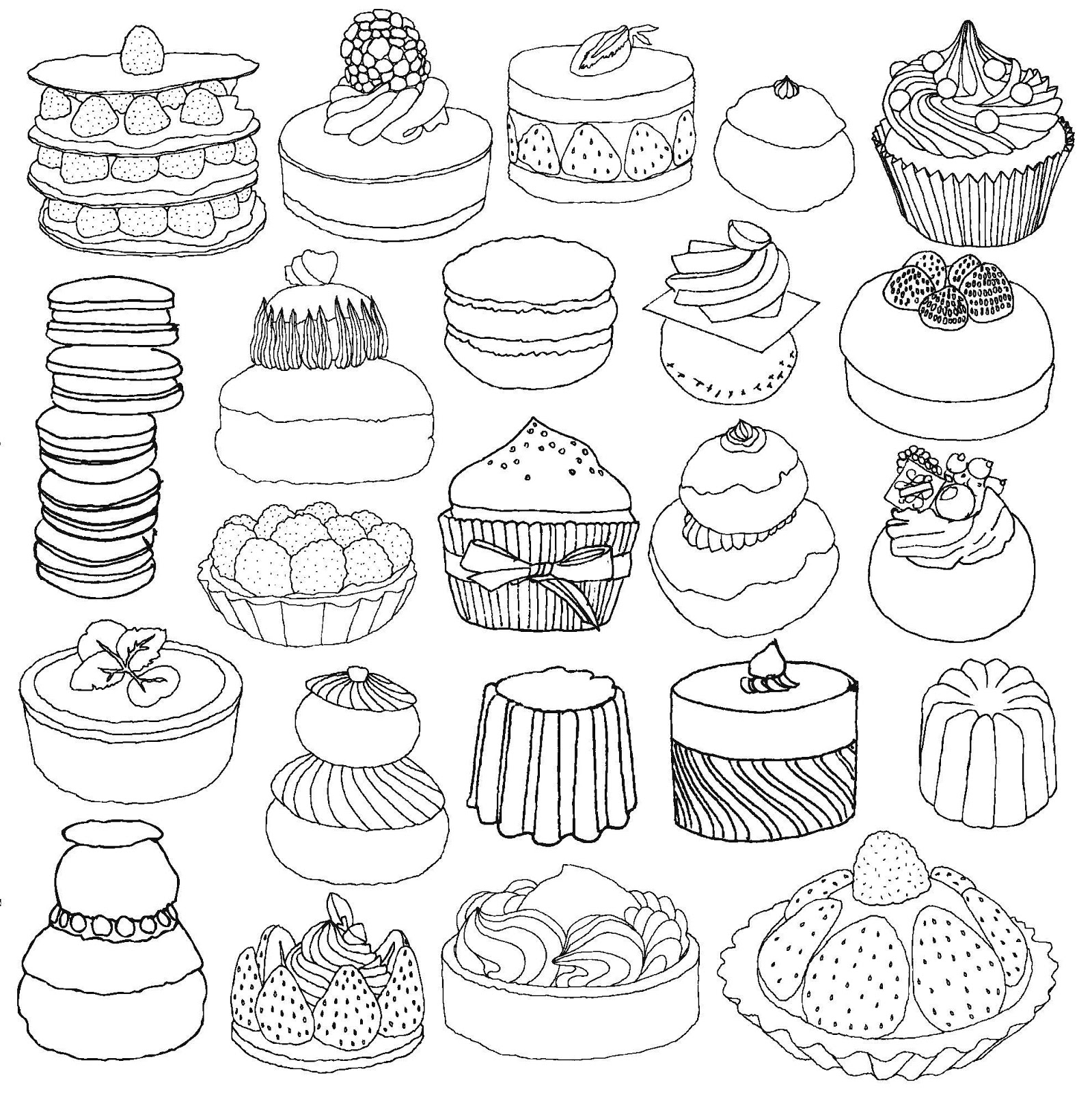 coloring pages french cafe - photo#23