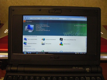Windows Vista Asus Eee PC