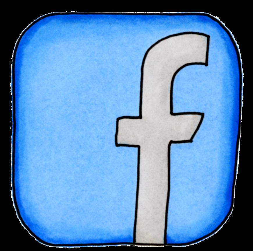 logga facebook tecknad