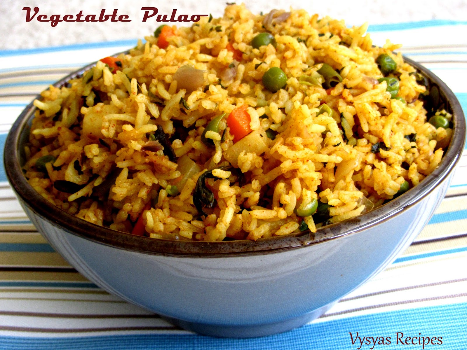 ... recipes: Vegetable Pulao Recipe - Spicy Vegetable Pulao Recipe