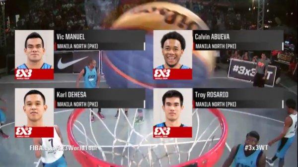 FIBA 3x3 Team Manila North: Abueva, Manuel, Rosario and Dehesa