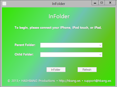 How to create subfolders under iOS7 without jailbreak
