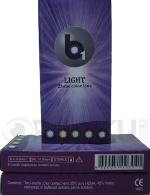 optikku softlens b1 light lensa kontak warna bulanan monthly disposable korea