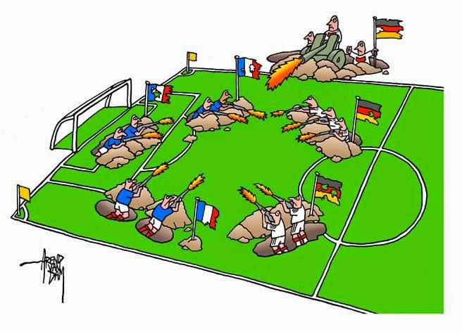 França, Alemanha, Cartoon, Futebol, Fifa World Cup Brazil 2014