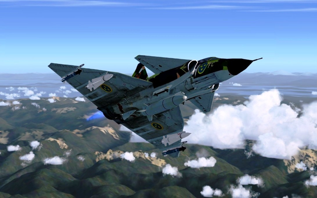 SAAB JA 37 Viggen jet fighter wallpaper 2