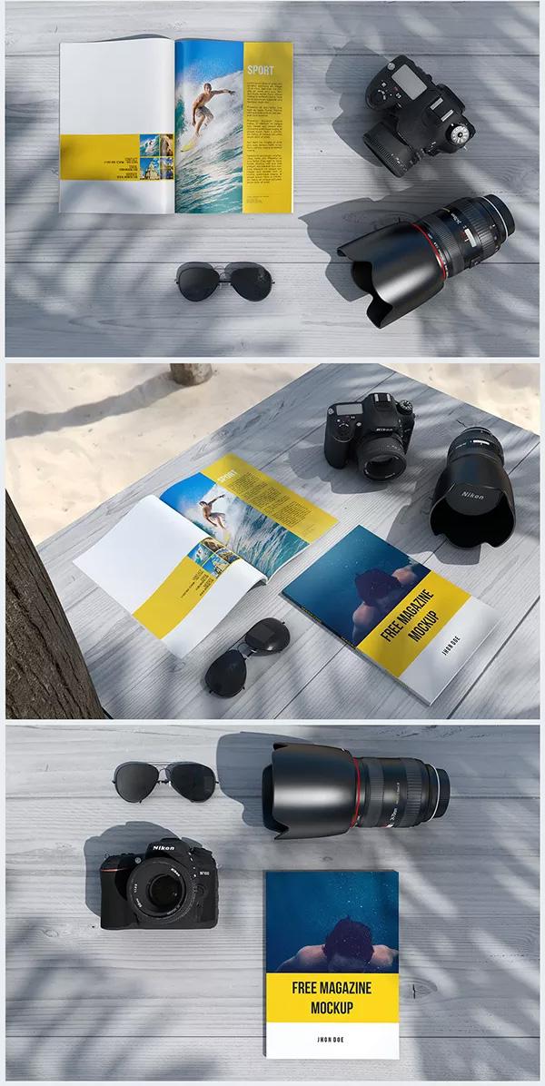 Download Gratis Mockup Majalah, Brosur, Buku, Cover - Magazine PSD Mockups #2