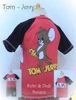 baju kartun anak tom jerry