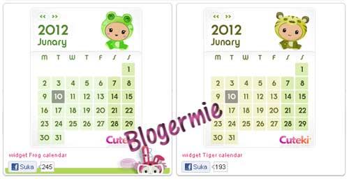 Kalender Imut Untuk Blog
