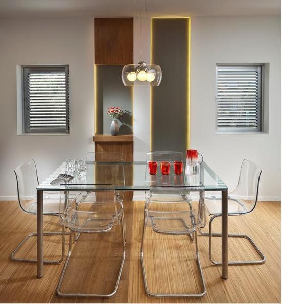 desain ruang makan kaca