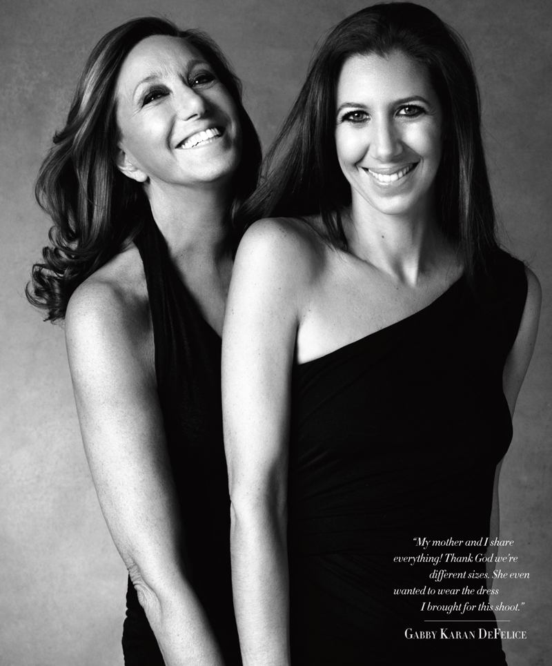 Donna & Gabby Karan photographed by Victor Demarchelier for Harper's Bazaar USA May 2013