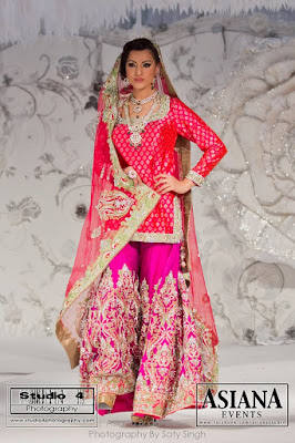 pink and purple bridal gharara by Ekta Solanki