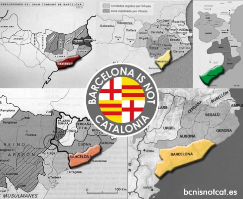 Mapas históricos de Barcelona como territorio independiente