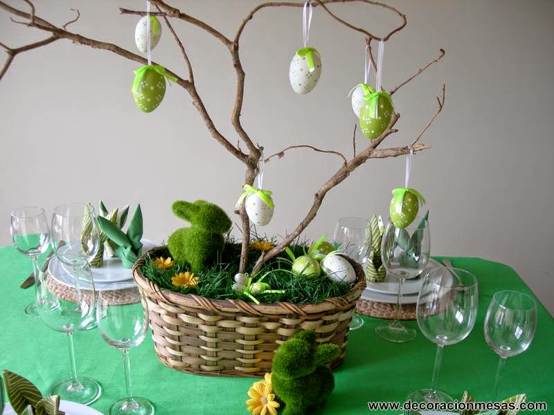 decoracion mesa Pascua