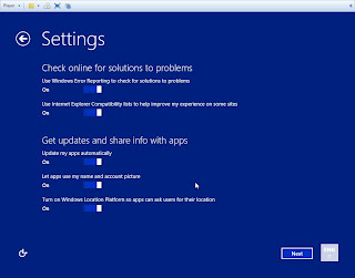 Windows Blue 8.1 - 9374 Leaked more settings