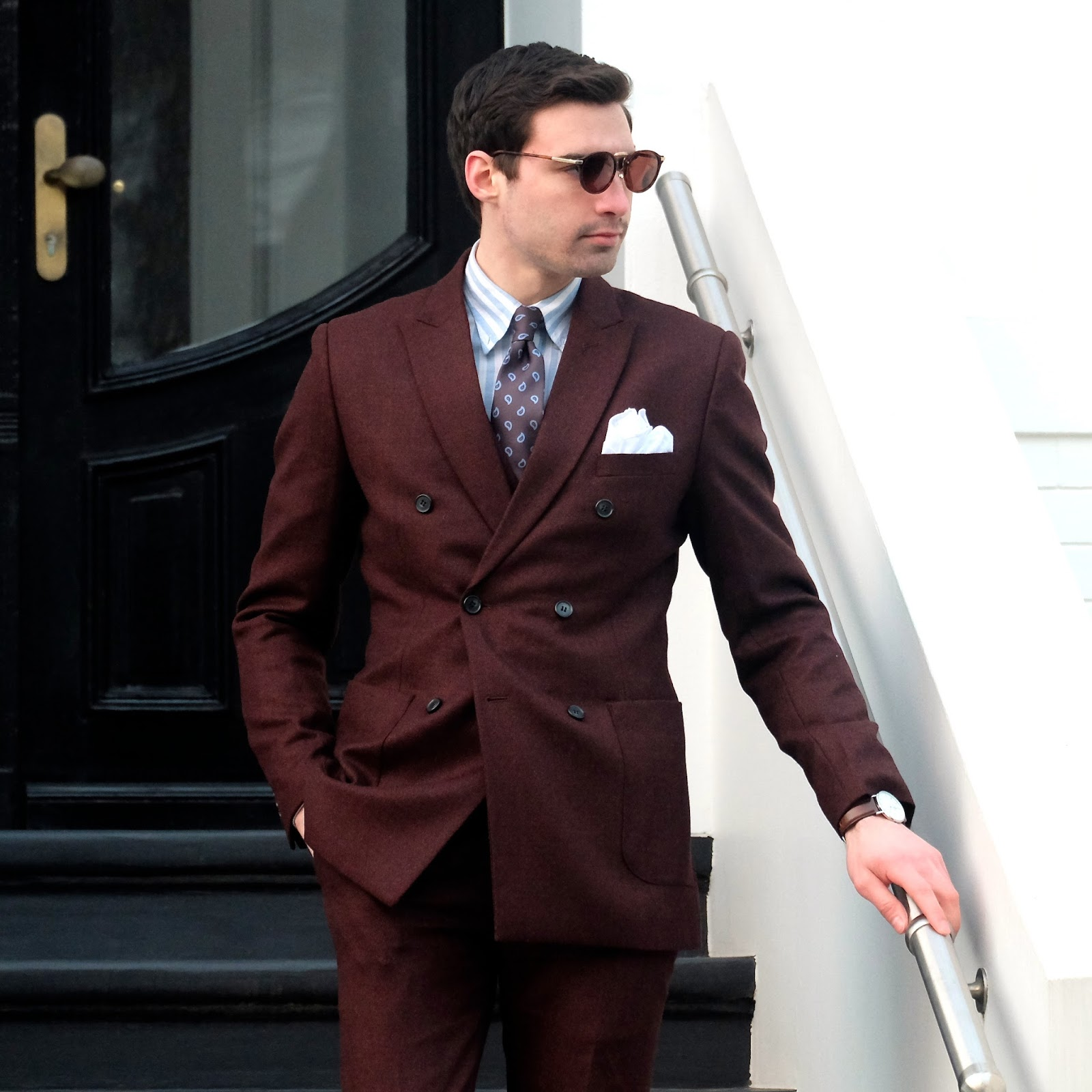 MIMOSAS AND ME: 5 Ways To Wear A Burgundy Suit [Featuring ...