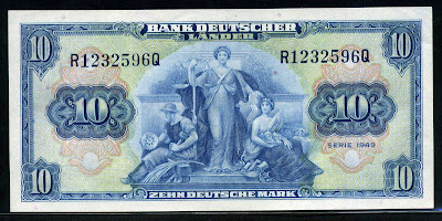 Bank Deutscher Lander 10 Deutsche Mark money currency