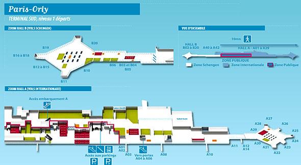 Dicas pr ticas de franc s para brasileiros mapa aeroporto de orly e seus terminais - Comptoir air france orly telephone ...