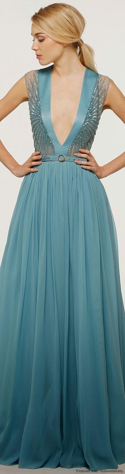 Light Blue Color Maxi Dress With Belt