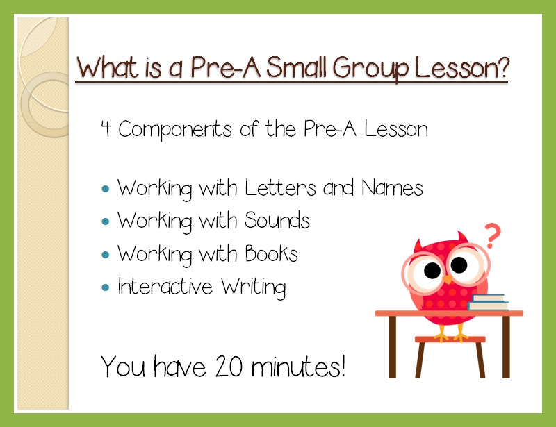 Pre-A Reading Level Starts Before The Beginning! | <!--Can'T