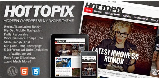 Hot Topix v2.1 - Modern Wordpress Magazine Theme  free download