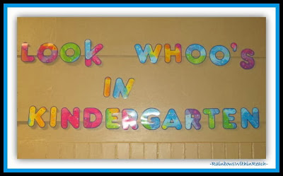 Kindergarten Owl Theme Bulletin Board via RainbowsWithinReach