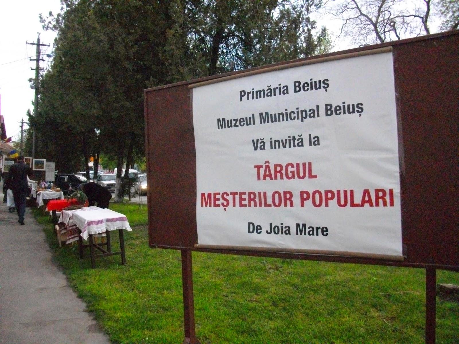 Târg al meşterilor populari în Beiuş