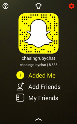 Follow me on Snapchat